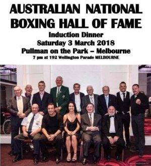 Peter Maniatis Enters the Boxing Hall of Fame. Ref: Phil Boxing