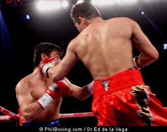 Arce of Mexico at a fight held at the Toyota Center, home of the