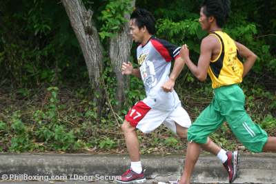 Manny Pacquiao Running in with Adonis Singson Cebu
